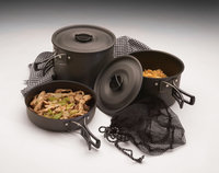 Texsport Trailblazer Black Ice Hard Anodized Cook Set
