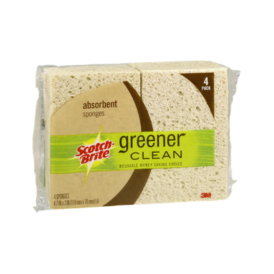 Scotch-Brite Greener Clean Absorbent Sponges - 4 CT