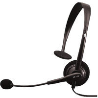 Cyber Acoustics 597840B Cyber Acoustics AC-100 Mono Speech Headset Boom Mic 3.5MM Plug