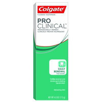 Colgate PRO Clinical Daily Renewal for Enamel Toothpaste, Mint, 4-Ounce Boxes (Pack of 4)