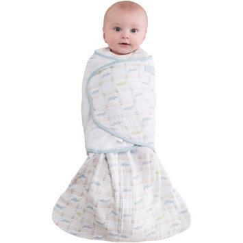 Halo HALO SleepSack Swaddle Cotton Blanket, Blue Alligator