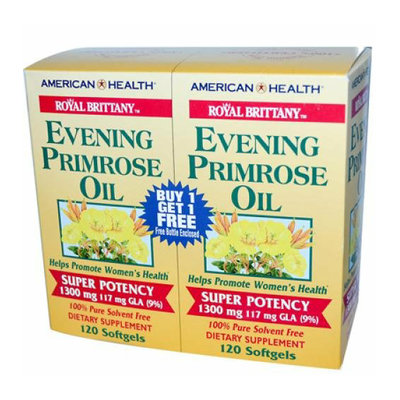 American Health Royal Brittany Evening Primrose Oil Twin Pack 1300 mg 120+120 Softgels
