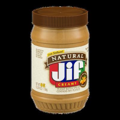 Jif Natural Peanut Butter Spread Low Sodium