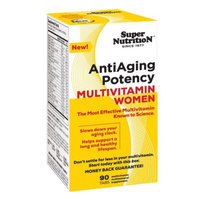 Super Nutrition AntiAging Women's Multivitamins, Tablets, 90 ea