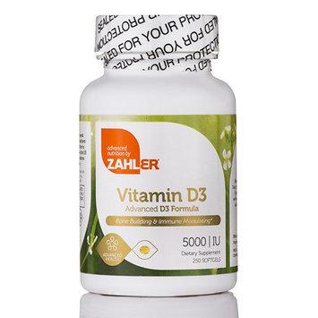 Zahler - Vitamin D3 5000 IU - 250 Softgels