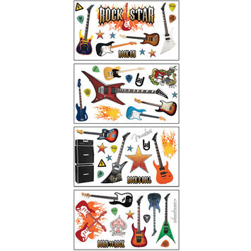 Paper House Productions, Inc Sticky Pix Removable & Repositionable Ultimate Wall Sticker Appliques - Rock Star