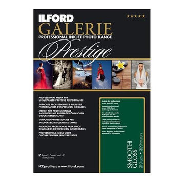 Ilford GALERIE Smooth Gloss Inkjet Paper, 310 gsm, 17x22