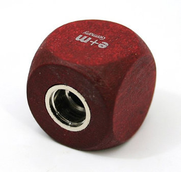 E.m. E+M Germany Cube 5.5 / 5.6mm Lead Sharpener, Mahogany