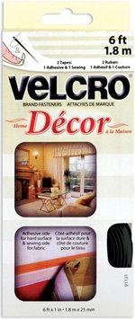 Velcrorbrand Fasteners VELCRO(R) brand Home Decor Tape 1 X6'-Black