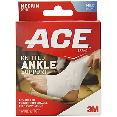 ACE Knitted Ankle Support, Medium, 1 Count