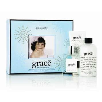 Philosophy Pure Grace Layering Set (Shampoo/Bath/Shower Gel 8 Ounce, Body Butter 2 Ounce, Spray Fragrance 2 Ounce)