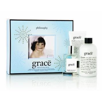 Philosophy Pure Grace Layering Set (Shampoo/Bath/Shower Gel 8 Ounce, Body Butter 2 Ounce, Spray Fragrance 2 Ounce)