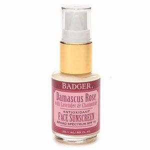 BADGER® Broad Spectrum Antioxidant Face Sunscreen Glass Bottle