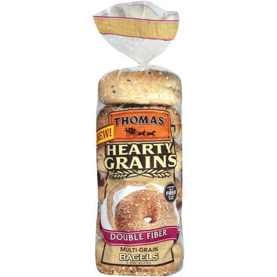 Thomas' Double Fiber Multi-Grain Bagels, 6ct