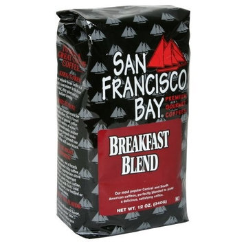 San Francisco Bay Coffee San Franscisco Bay Coffee Breakfast Blend Whole Bean, 12-Ounce (Pack of 3)
