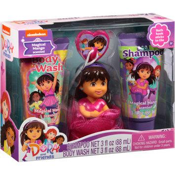 Dora the Explorer Nickelodeon Dora and Friends Magical Mango Scented Soap & Scrub Gift Set, 3 pc