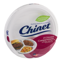Chinet Dinner Compartment Plates Classic White - 15 CT