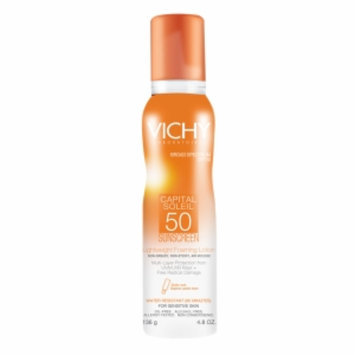 Vichy Laboratoires Capital Soleil SPF 50 Lightweight Foaming Lotion, 4.8 oz