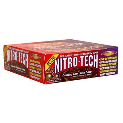 Musclemaster MuscleTech Nitro Tech Bar Choc Crisp 12 bars