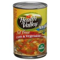 Health Valley Soup, Corn And Vegetable Fat Free, 15 Ounce Cans (Pack of 12)