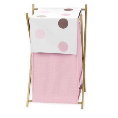 Sweet Jojo Designs Mod Dots Pink Collection Laundry Hamper
