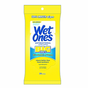 Wet Ones Big Ones Antibacterial Hand and Face Wipes