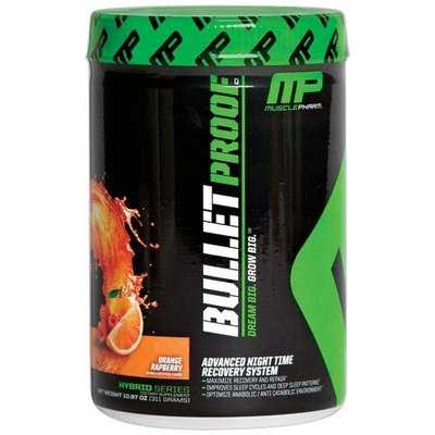 Muscle Pharm. Bullet Proof, Orange Raspberry, 311-gram Tub