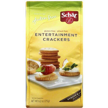 Schar Gluten Free Entertainment Crackers, 6.2 oz, (Pack of 6)