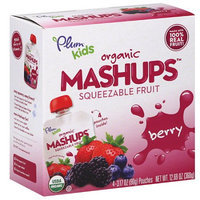 Generic Plum Kids Organic Mashups Berry Squeezable Fruit, 3.17 oz, 4 count, (Pack of 6)