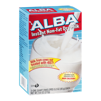 Alba Instant Non-fat Dry Milk Envelopes