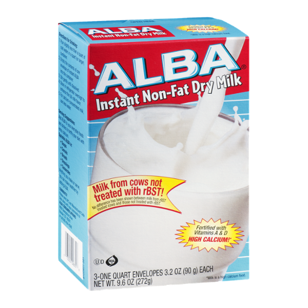 Alba Instant Non-fat Dry Milk Envelopes