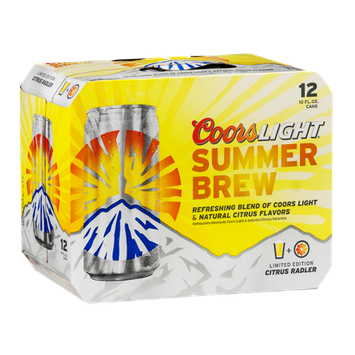 Coors Light Summer Brew Citrus Radler
