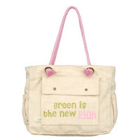 Dandelion Organic Canvas Tote, Green Is The New Pink