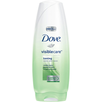 Dove Visible Care Toning Creme Body Wash