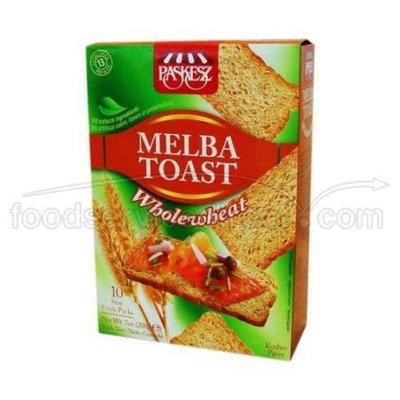 Paskesz Melba Toast - Whole Wheat 7oz.