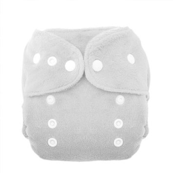 Thirsties Duo Fab Fitted Snap Cloth Diapers, White, Size One (6-18 lbs)
