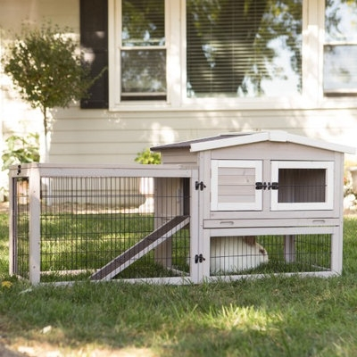Boomer & George Bungalow Rabbit Hutch with Run