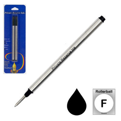 Pk/2 Private Reserve Montblanc Compatible Rollerball Refills, Black Fine