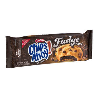 Nabisco Chewy Chips Ahoy! Soft Cookies Fudge Filled