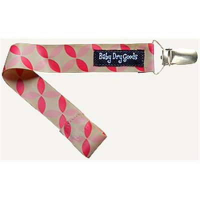 Baby Dry Goods 030-25 Pink-Tan Pinwheels Pacifier Clip