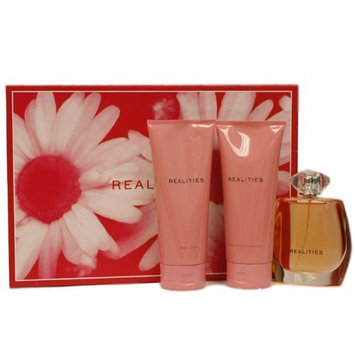 Realities By Realities Cosmetics For Women. Gift Set ( Eau De Parfum Spray 3.4 Oz + Body Lotion 6.7Oz + Shower Gel 6.7 Oz )