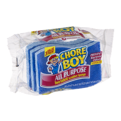 Chore Boy All Purpose Two-Sided Scrubber Sponge - 3 CT