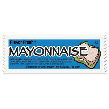 Diamond Crystal 78030 Flavor Fresh Mayonnaise Packets .317oz Packet 200/Carton