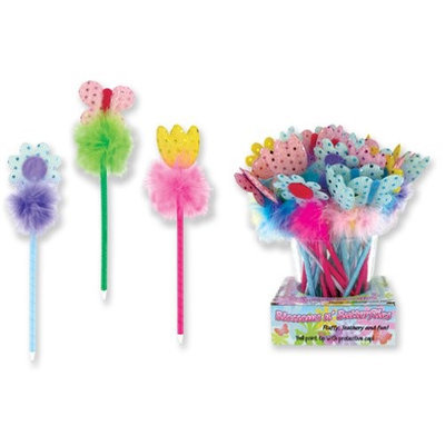 Bulk Buys Spring Sequin Furry Bobble Pen(Case of 72)