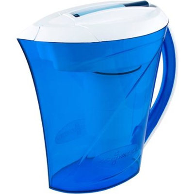 ZeroWater ZD-010rp 10-Cup Ready-Pour Pitcher with Free Filter Change Indicator