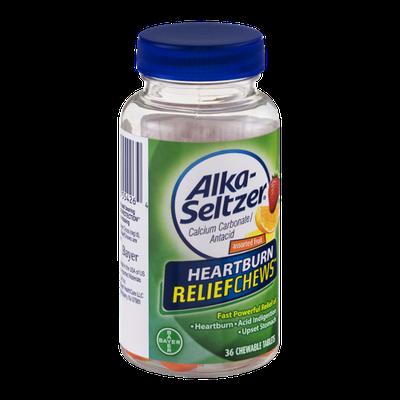 Alka-Seltzer Heartburn ReliefChews Chewable Tablets Assorted Fruit - 36 CT
