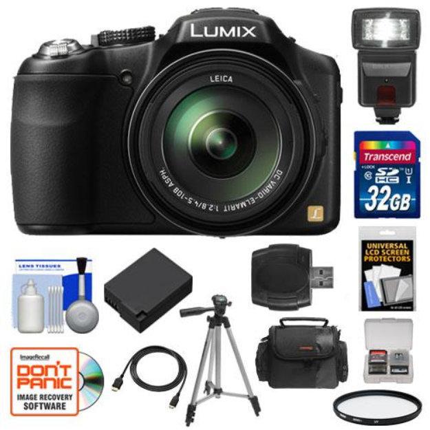 Panasonic Lumix Dmc Fz200 Digital Camera Black With 32gb Card