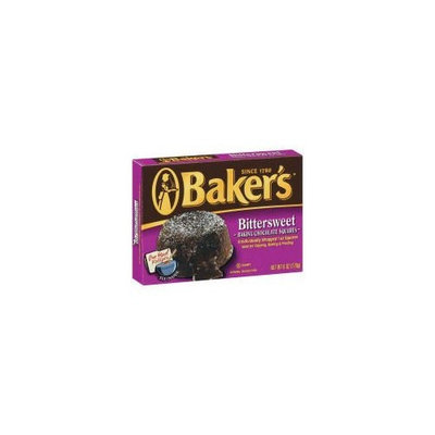 Bakers Baker's Bittersweet Baking Chocolate Squares (Case of 12)
