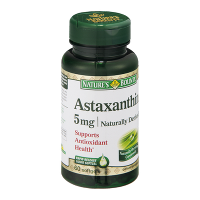 Nature's Bounty Astaxanthin 5mg Dietary Supplement Softgels - 60 CT