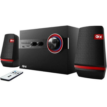 QFX 2.1 Channel Bookshelf Stereo Bluetooth AM/FM Radio USB/SD